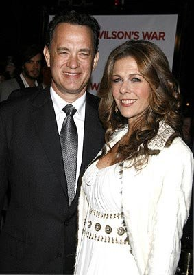 Tom Hanks and Rita Wilson at the Los Angeles premiere of Universal Pictures' Charlie Wilson's War