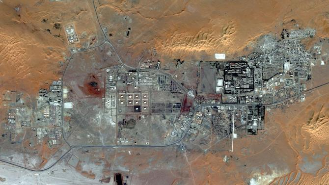 CAPTION CORRECTION, CORRECTS TO THE CITY OF AMENAS, ALGERIA, NOT THE AMENAS GAS FIELD, WHICH IS 45 KM FROM THE CITY AND NOT VISIBLE IN THIS IMAGE - This Oct. 8, 2012 satellite image provided by DigitalGlobe shows the city of Amenas, Algeria. At the Amenas Gas Field, 45 km from the city and not shown in this image, Algerian special forces launched a rescue operation Thursday and freed foreign hostages held by al-Qaida-linked militants, but estimates for the number of dead varied wildly from four to dozens. (AP Photo/DigitalGlobe)