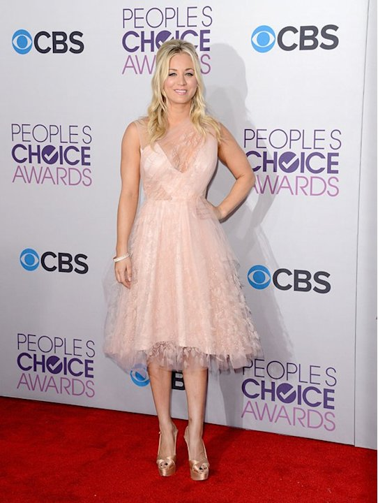WORST: Kaley Cuoco.  The People's Choice Awards host may be sweet as a cupcake, but dressing up like one in this Christian Siriano gown wasn't the best of ideas.