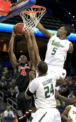 Rudd, South Florida overwhelm St. John's 64-49