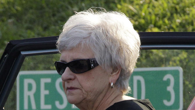 Former Penn State University assistant football coach Jerry Sandusky's wife Dorothy Sandusky arrives at the Centre County Courthouse in Bellefonte, Pa., Thursday, June 21, 2012. Jerry Sandusky is charged with 51 counts of child sexual abuse involving 10 boys over a period of 15 years.  (AP Photo/Gene J. Puskar)