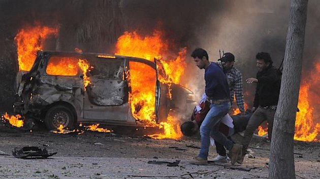 Car-Bombing in Downtown Damascus (ABC News)