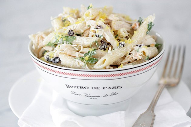 Chilled Penne with Rotisserie Chicken and Currants