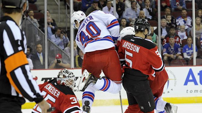 Tedenby, Gelinas score in Devils' win over Rangers