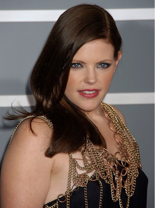 Natalie Maines of The Dixie Chicks at The 49th Annual Grammy Awards.