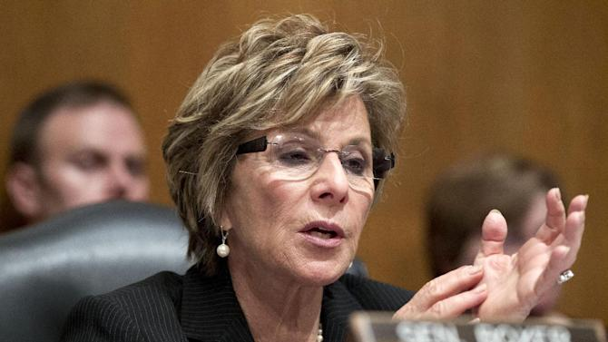 FILE - In this April 18, 2012 file photo, Sen. Barbara Boxer, D-Calif.  is seen on Capitol Hill in Washington. House Republicans determined to show women voters that they have their interests at heart on Wednesday announced plans to renew the Violence Against Women Act, the federal government's main domestic violence program.  (AP Photo/J. Scott Applewhite, File)