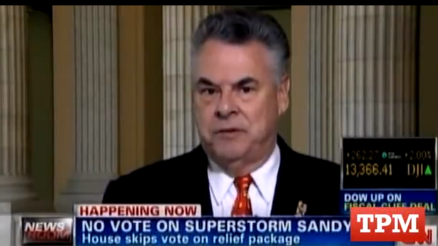 Watch Peter King Explode at His Own Party on Failed Sandy Relief Vote