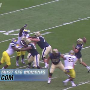 Pitt's Tyler Boyd Hauls in Great Rolling TD Catch | ACC Must See Moment