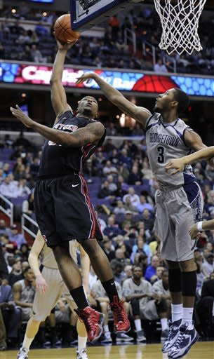 Porter leads No. 7 Georgetown past Rutgers 64-51