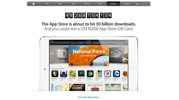 ht itunes 02 mi 130503 wmain Apple Offering $10k Prize to User Who Downloads 50 Billionth App