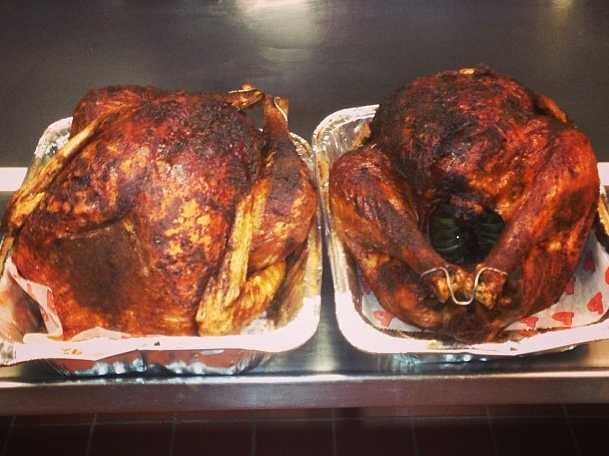 two fried cajun turkeys najarians