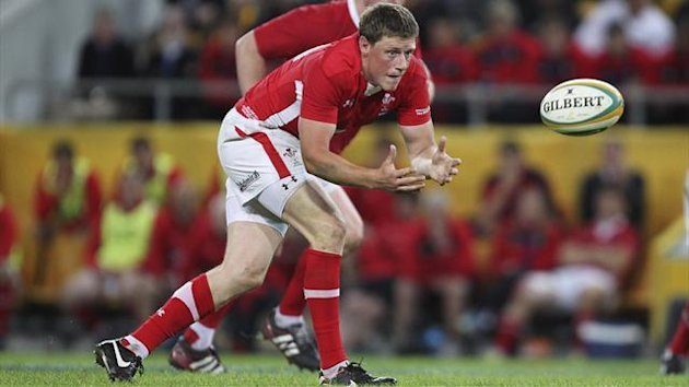 Wales' Rhys Priestland (front) in action against Australia (Reuters)