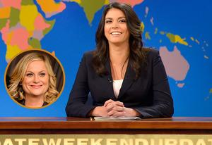 Amy Poehler, Cecily Strong | Photo Credits: Jason Kempin/Getty Images; Dana Edelson/NBC