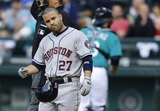 Astros ninth inning rally sink M's