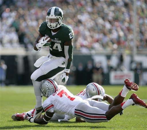 No. 14 Ohio St holds off No. 20 Michigan St 17-16