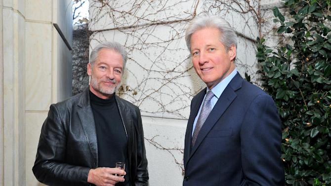 Actors Perry King (L) and Bruce Boxleitner attend AARP The Magazine's 12th Annual Movies For Grownups Awards at The Peninsula Hotel on Tuesday, February 12, 2013 in Beverly Hills, California. ( Photo by Vince Bucci/Invision for AARP The Magazine/AP Images