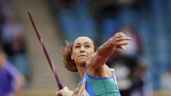 RUN: Great Britain's Jessica Ennis-Hill competes during the Javelin
