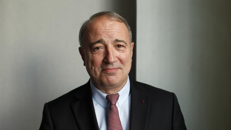 Thierry de la Tour d'Artaise, Chairman and CEO of French electrical goods company Groupe SEB, poses before the company's 2014 First-Half results presentation in Paris