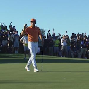 Rickie Fowler holes clutch putt to extend at Waste Management