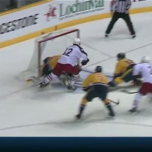 Anisimov dekes around Rinne on power move