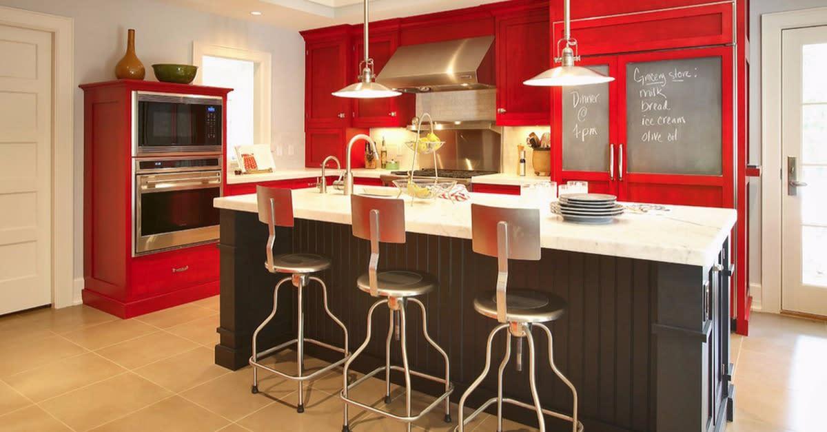 27 Stunning Red Kitchen Designs