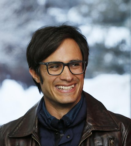 "Actor Gael Garcia Bernal is interviewed at the premiere of ""Who Is Dayani Cristal?"" during the 2013 Sundance Film Festival on Thursday, Jan. 17, 2013 in Park City, Utah. (Photo by Danny Moloshok/Invision/AP)"