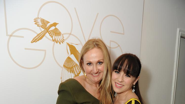 "Sally Morrison, left, and Madeline Fuhrman attend LoveGold/EJAF Celebrate ""How to Survive a Plague"" at Chateau Marmont on February 22, 2013 in Los Angeles. (Photo by Jordan Strauss/Invision for LoveGold/AP Images)"