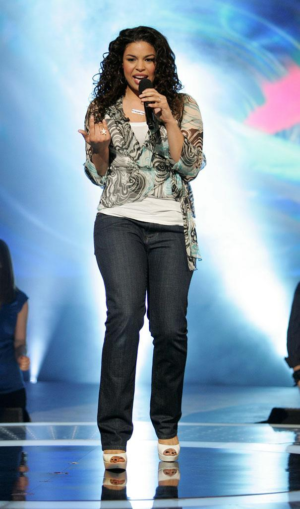 Jordin Sparks performs in the 6th season of American Idol.