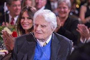 Handout photo of Billy Graham during the celebration of his 95th birthday in Asheville