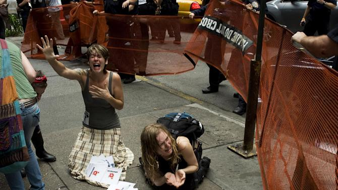 """This undated publicity photo provided by the Sundance Institute shows a scene from the film, """"99%: The Occupy Wall Street Collaborative Film,"""" included in the U.S. Documentary Film competition for the 2013 Sundance Film Festival. (AP Photo/Sundance Institute)"""