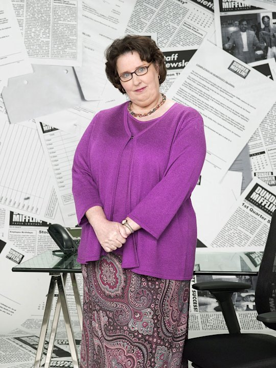 "Phyllis Smith as Phyllis Lapin in ""The Office."""
