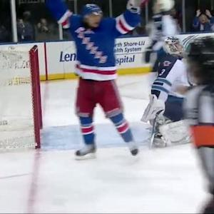 Mats Zuccarello deflects a McDonagh shot
