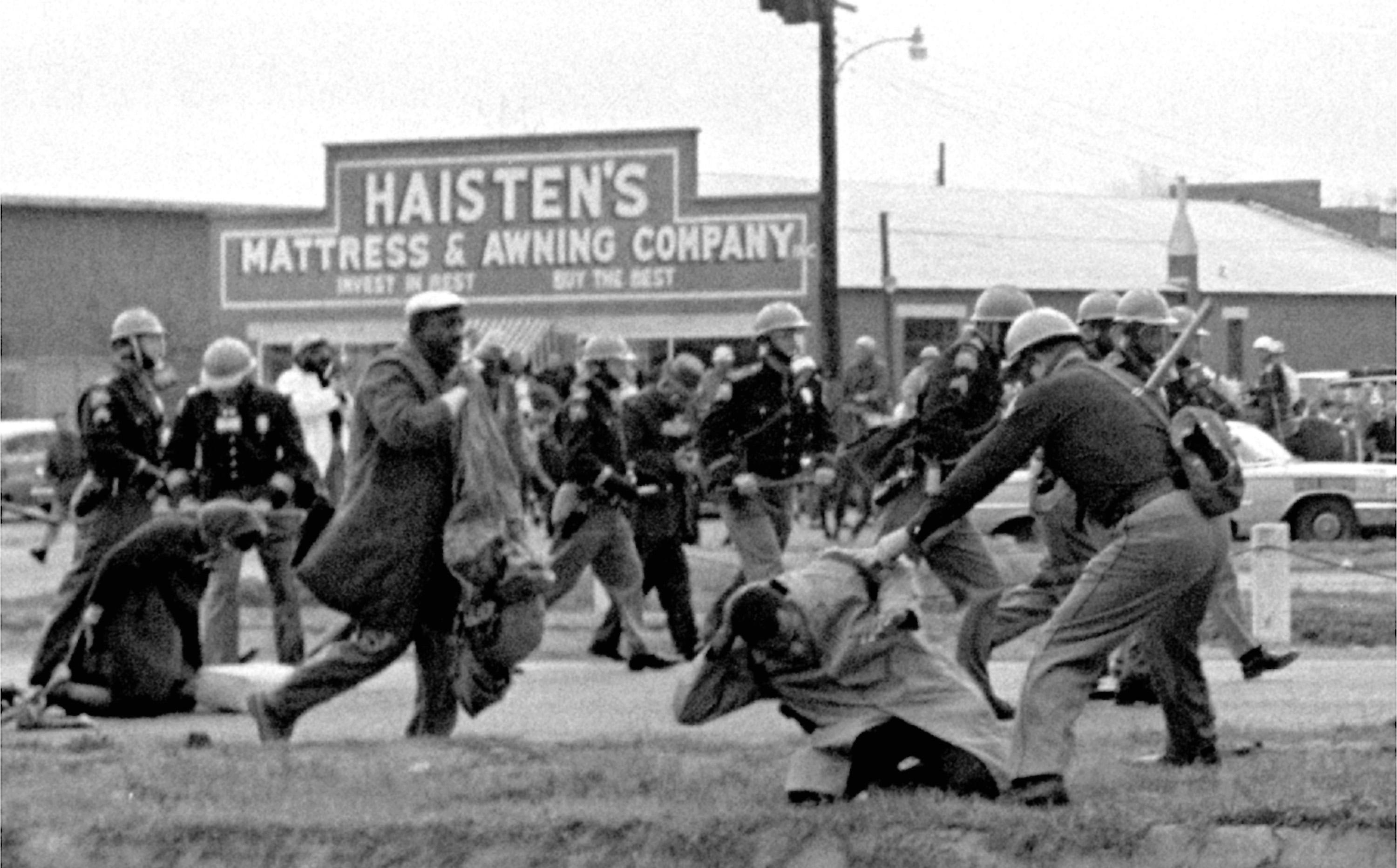 "50 years after ""Bloody Sunday"" at the Edmund Pettus Bridge in Selma, Alabama"