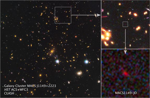Farthest Galaxy Yet Revealed by Cosmic Lens