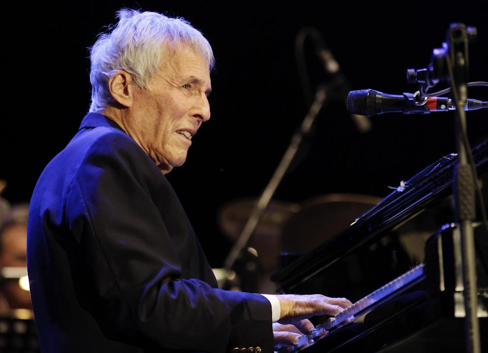 FILE - In this July 16, 2011 file photo, American pianist and composer Burt Bacharach performs in Milan, Italy. President Barack Obama will honor songwriting duo Bacharach and Hal David with Gershwin Prize at White House concert, Wednesday. (AP Photo/Luca Bruno, File)