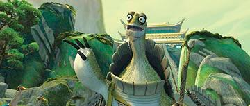 Oogway (voiced by Randall Duk Kim ) in DreamWorks Animation's Kung Fu Panda