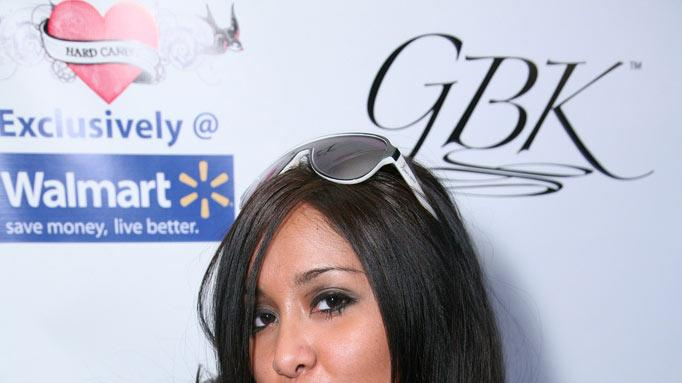 Nicole 'Snooki' Polizzi arrives at GBK's Gift Lounge for the 2010 Golden Globes Nominees and Presenters Day 1 on January 16, 2010 in Los Angeles, California.