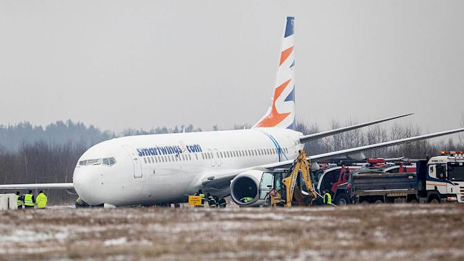 Airport closed after plane skidded in Poland