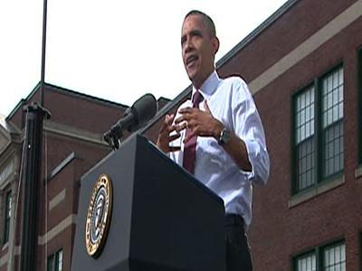 Obama hits Romney on taxes