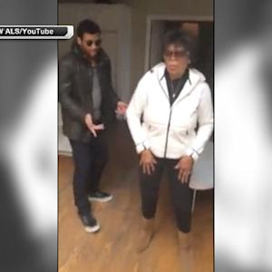 Russell Wilson dances with his grandma