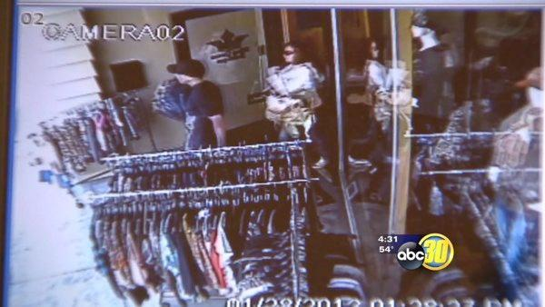 Theft at Kingsburg boutique captured on camera