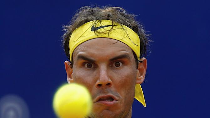 Spain's Nadal plays a shot during his tennis match against Austria's Thiem at the ATP Argentina Open in Buenos Aires