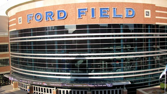 The exterior of Ford Field in Detroit is shown Thursday, Nov. 10, 2011, the day before the start of TheCall, a 24-hour Christian prayer gathering. Detroit clergy plan to march and hold a prayer rally outside the stadium hosting controversial event. (AP Photo/Jeff Karoub)
