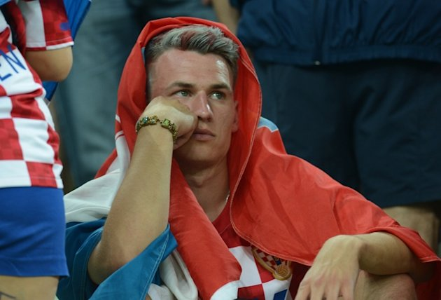 A Fan Of Croatia's National Football Team Reacts AFP/Getty Images