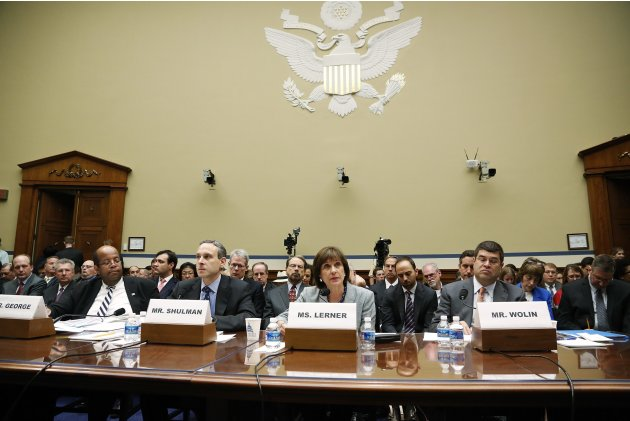 George, Shulman, Lerner and Wolin read opening statements before a House Oversight and Government Reform Committee hearing on alleged targeting of political groups seeking tax-exempt status from by th