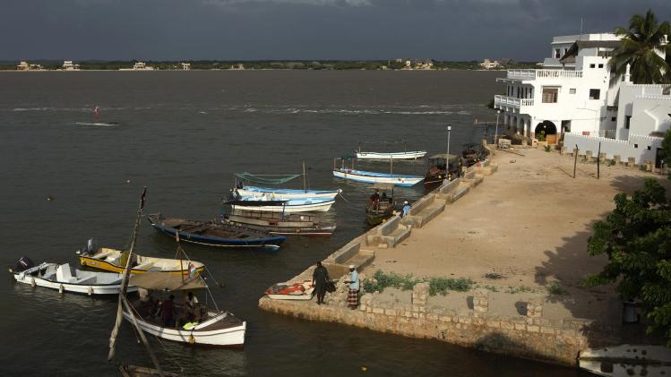 A view of the village of Shela, the second main settlement in Lamu, an island in the Indian Ocean off the northern coast of Kenya