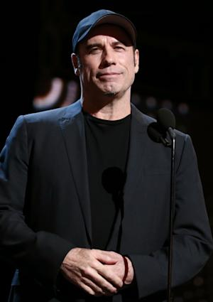 Actor John Travolta attends rehearsals for the 85th Academy Awards in Los Angeles, Saturday, Feb. 23, 2013. The Academy Awards are scheduled for Sunday, Feb. 24, 2013. (Photo by Matt Sayles/Invision/AP)