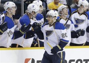 Blues' Elliott blanks Predators 1-0