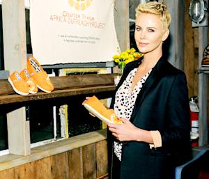 Charlize Theron Designs Chic TOMS Flats for Charity