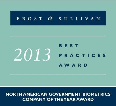 Frost & Sullivan Names MorphoTrust 2013 North American Company of the Year for Government Biometrics
